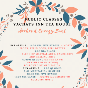 public classes at Yachats Inn Tea House